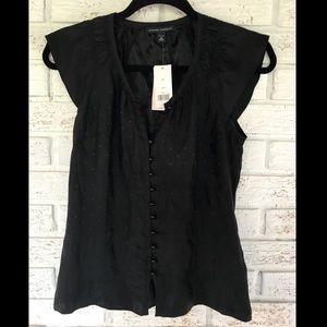 Banana Republic | Petite XS 100% Silk Black Blouse